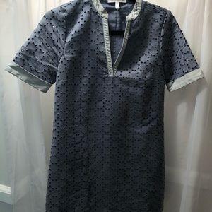 BCBG mini suede shift dress